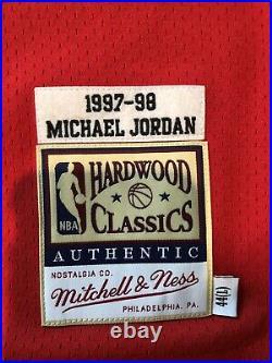Michael Jordan Chicago Bulls Mitchell & Ness 1997-98 Hardwood Classic Jersey Lrg