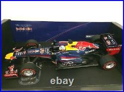 Minichamps 1/18 2013 Red Bull Racing Rb9 F1 Sebastien Vettel 110130101 Rare