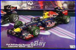 Minichamps 1/43 Vettel Set 3 Times World Champion F1 Red Bull 2010 2011 2012 New
