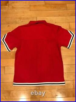 Mitchell And Ness Chicago Bulls 1997 Finals Shooting Shirt Away Red Sz Large