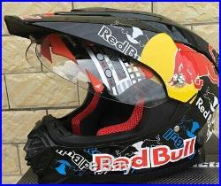 MotoCross Racing Helmet RedBull V2 Extreme Sports for Dirt Bike With Gifts 2020