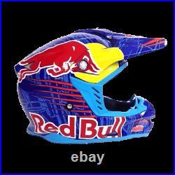 Motocross Adults Motorcycle Helmet KTM Redbull Orange Blue Red Bull