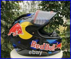 Motorcycle Helmet Full Face Red Bull AGL AGV Helmet Model Design Motorbike Black