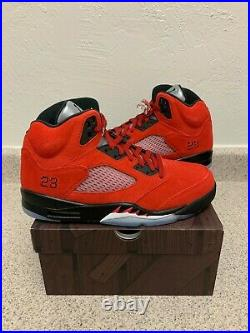 NEW AIR JORDAN 5 RED RAGING BULL TORO Men's Size 9.5 10 10.5 11.5 14 DD0587-600