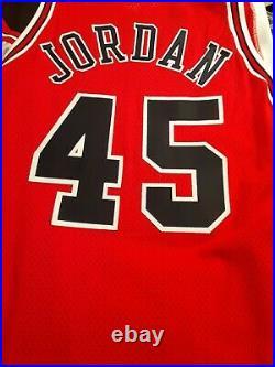NEW Champion Michael Jordan Jersey Chicago Bulls NEW Auth#45 NBA-Vtg 90s Size 48