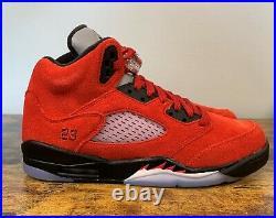 NEW Nike Air Jordan 5 Retro Raging Bull Red 440888 600 GS Size 6 Women's 7.5