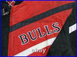 NEW VINTAGE Chicago Bulls Jacket Adult Medium Red Black Basketball Mens 90s