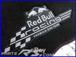New GENUINE Renault Sport MEGANE III RS floor mats carpet velor RED BULL formula