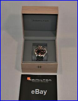 New Men's Hamilton Khaki Red Bull Air Race Team Automatic Watch 42mm H76535731
