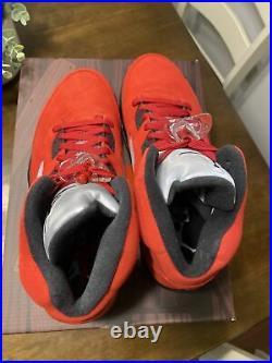 New Mens Nike Air Jordan 5 Retro Raging Bull Red Suede 2021 Size 11 Now