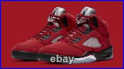 New Nike Air Jordan Retro 5 Raging Bull Toro Bravo 2021 440888-600 Size 7 GS