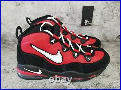 Nike Air Max Uptempo'95 CHICAGO BULLS BLACK RED CK0892-600 Men's Size 11