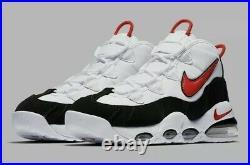 Nike Air Max Uptempo 95 Mens White Black/Red CK0892-101 Chicago Bulls Size11.5