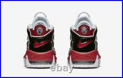 Nike Air More Uptempo'96 Shoes Hoops Pack Bulls Red Black 921948-600 Men's