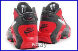 Nike Air Up'14 Black/Red/Silver 630929-002 Sz 10.5 pippen bulls