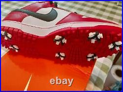 Nike Dunk Golf shoes Rare deadstock size 13 Red White Black Bulls colorway