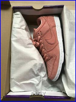 Nike Sb Dunk Low Pink Pig Atomic Pink /red /white/ Black Cv1655-600 Size Us 8