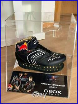 Original Sebastian Vettel Formel 1 F1 Red Bull Racing 2012 Schuh Shoe Signed