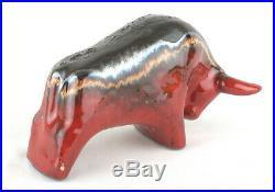 Otto Keramik West German Fat Lava Pottery Small Red Bull