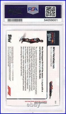 POP 9 2020 Topps Now MAX VERSTAPPEN Formula 1 PSA 10 GEM MINT #23 F1 Red Bull