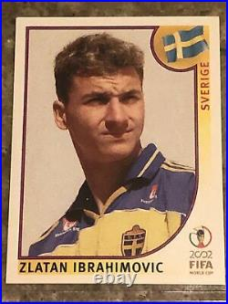 Panini world cup 2002 Korea Japan #456 Zlatan Ibrahimovic rookie RC top loader A