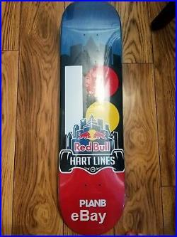 Plan b skateboard deck red bull hard lines