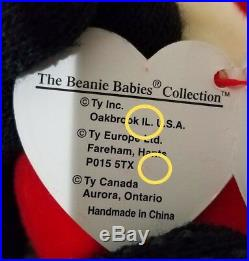 RARE Ty Beanie Baby Snort Red Bull MWMT withERRORS and Tag Protector