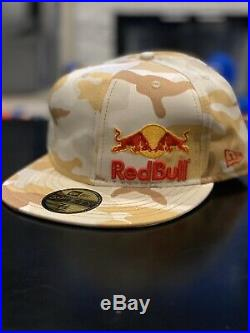 RED BULL ATHLETE ONLY HAT CAMO Camouflage Fitted NewEra New Era 7 3/8 Sponsored