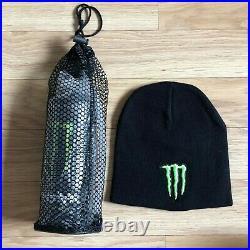 Rare Monster Energy Athlete Only Metal Water Bottle & Beanie / UFC Redbull cap