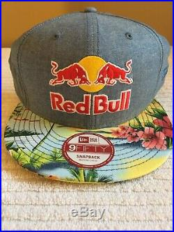 Rare red bull hat athlete Hawaiian SnapBack