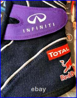 RedBull Racing Formula 1, F1 driver gloves ALPINESTARS TECH-ZX Vettel, Webber 2013