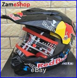 RedBull black edition, motorcycle helmet, motocross helmet, size M, L, XL, XXL