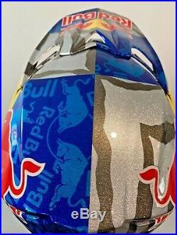 Red Bull ATHLETE HELMET FLY F2 CARBON RARE! SIZE XL hat cap supercross
