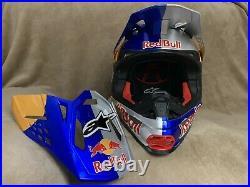 Red Bull Alpinestars Motocross Helmet Size Large Athlete Only RARE