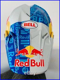 Red Bull Athlete Helmet Bell Moto 9 Flex Size L Motocross Supercross Rare