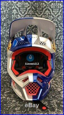 Red Bull Athlete Helmet Fox V3 Size L Motocross Supercross Rare