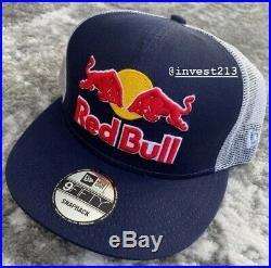 Red Bull Athlete Only Trucker Hat 3d Logo Navy/white Cap