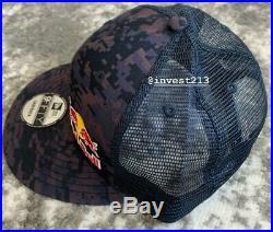 Red Bull Athlete Only Trucker Hat Digi Camo -small/medium Snapback Cap