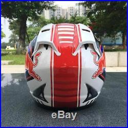 Red Bull ECE DOT Motorcycle Helmet full Motor With Black Visor color Safety gear