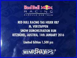 Red Bull RB7 Snow Demo Run Kitzbühel 2016 Max Verstappen Minichamps 118