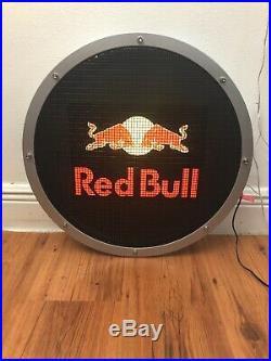 Red Bull equalizer logo Display Loudspeaker 15 LED Back Light, NEW OPEN BOX