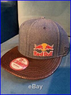 Red bull new era Snap Back Cap Original Athletes Größe 7 1/4 Neu ungetragen