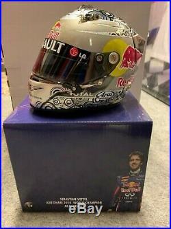 Sebastian Vettel Abu Dhabi 2010 Red Bull Helm Helmet Casque F1 Formel 1 NEU
