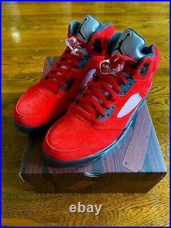 Size 11 Jordan 5 Retro Raging Bull Red Suede 2021
