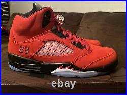 Size 14 Jordan 5 Retro Raging Bulls 2021- Brand New With Defect On Left Heel