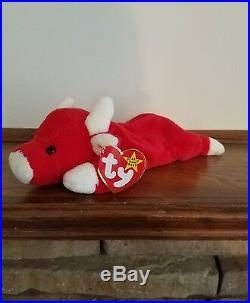 Snort Red Bull TY Beanie Baby RARE