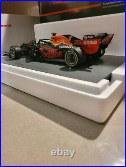 Spark 118 Red Bull Honda RB16 Max Verstappen 2020 70th Anniversary GP Winner
