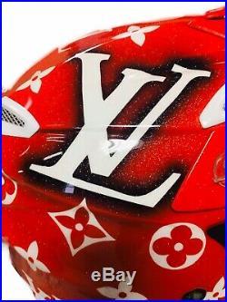 Suomy Motocross Helmet Custom Painted Louis Vuitton Supreme Redbull