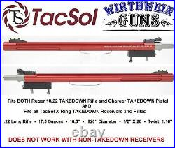 TacSol Ruger 10-22 Takedown X-Ring. 920 Red Bull Barrel Tactical Solutions