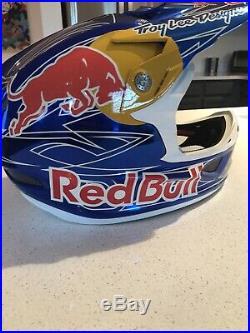 Troy Lee Designs D3 Helmet Red Bull Team Athlete MTB BMX Downhill Mountain Bike